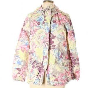 NWOT Mossimo Supply Floral Rain Coat M